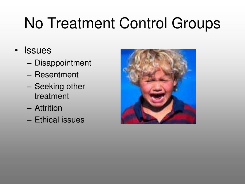 No Treatment Control Groups