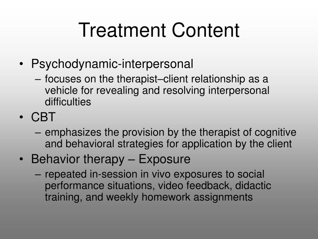 Treatment Content