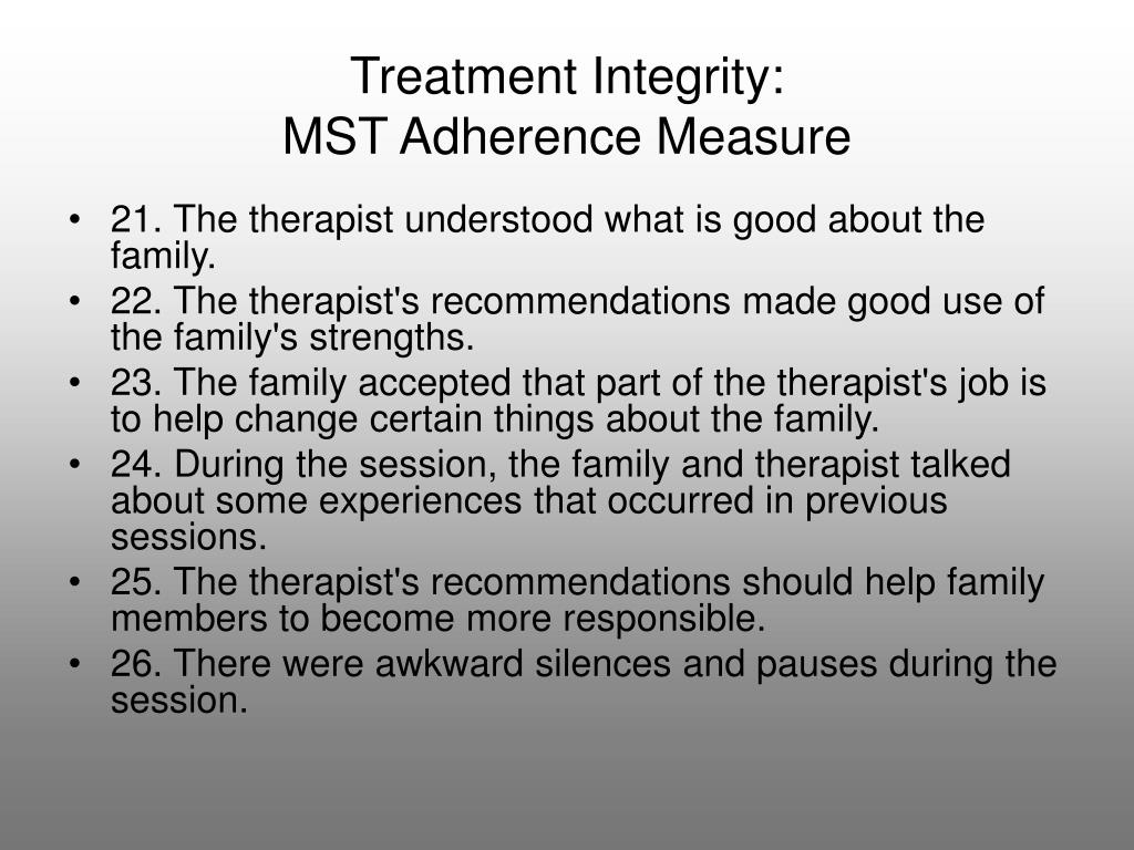 Treatment Integrity: