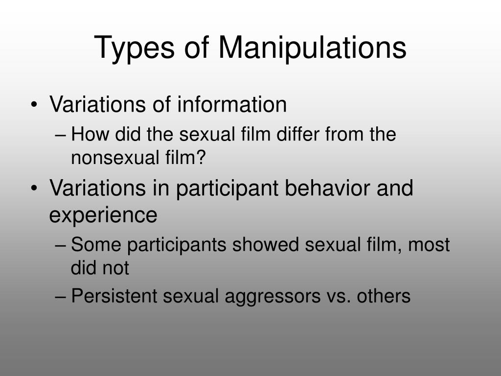 Types of Manipulations