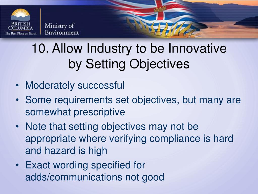 10. Allow Industry to be Innovative