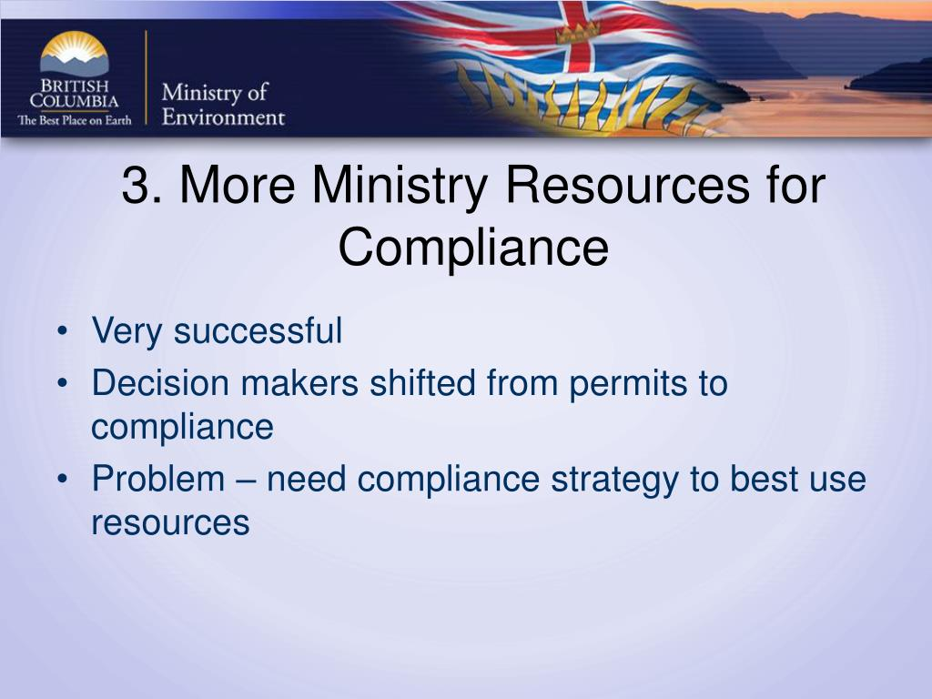 3. More Ministry Resources for Compliance