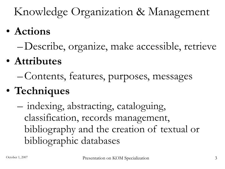 Knowledge organization management3