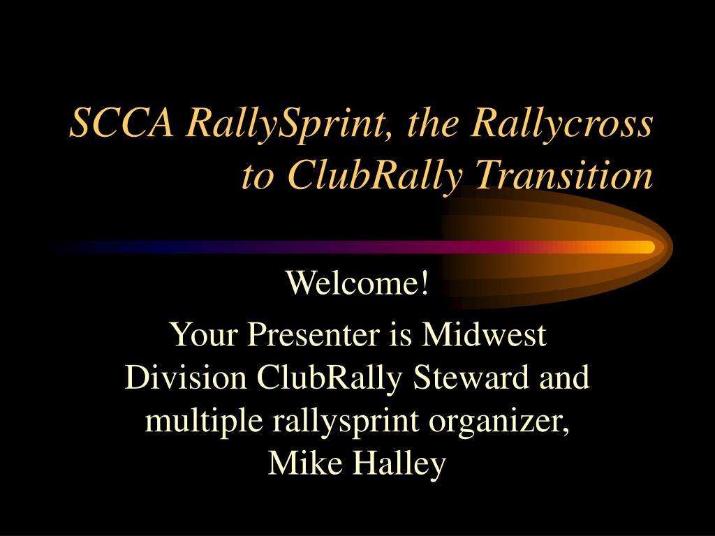 scca rallysprint the rallycross to clubrally transition