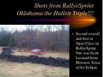 shots from rallyesprint oklahoma the hallett triple27