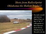 shots from rallyesprint oklahoma the hallett triple28