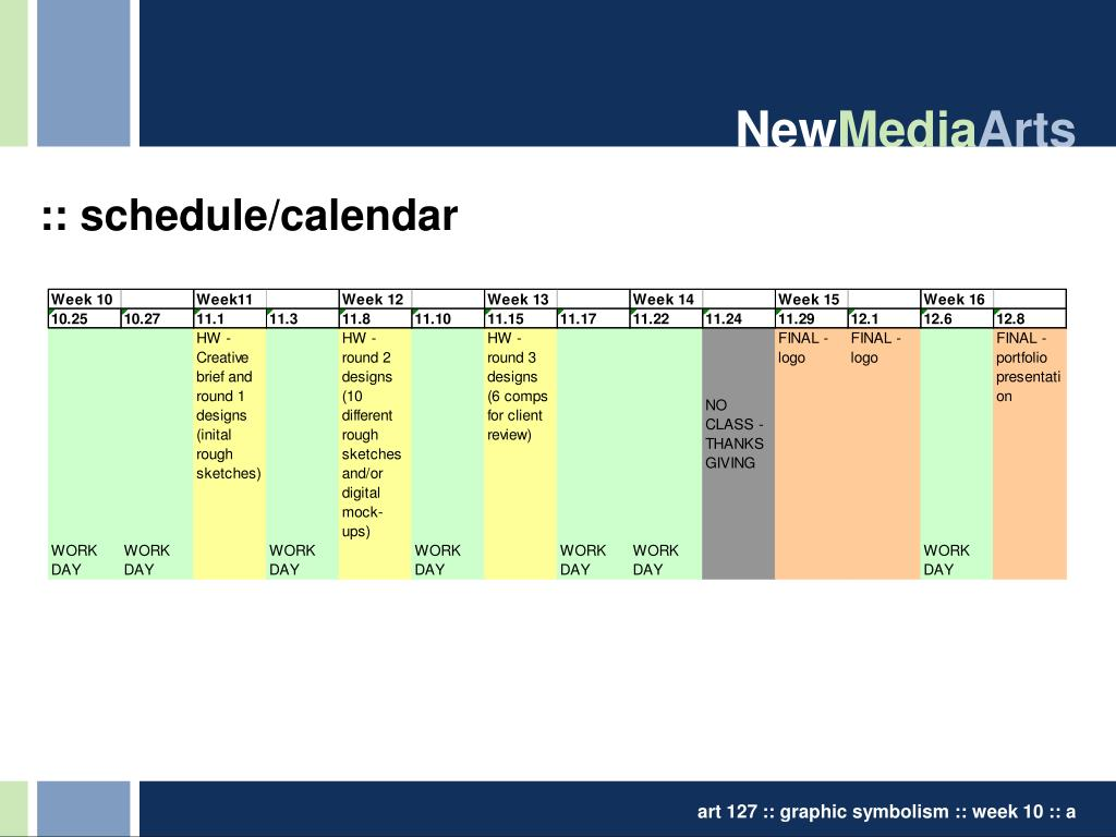 :: schedule/calendar