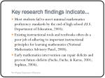 key research findings indicate