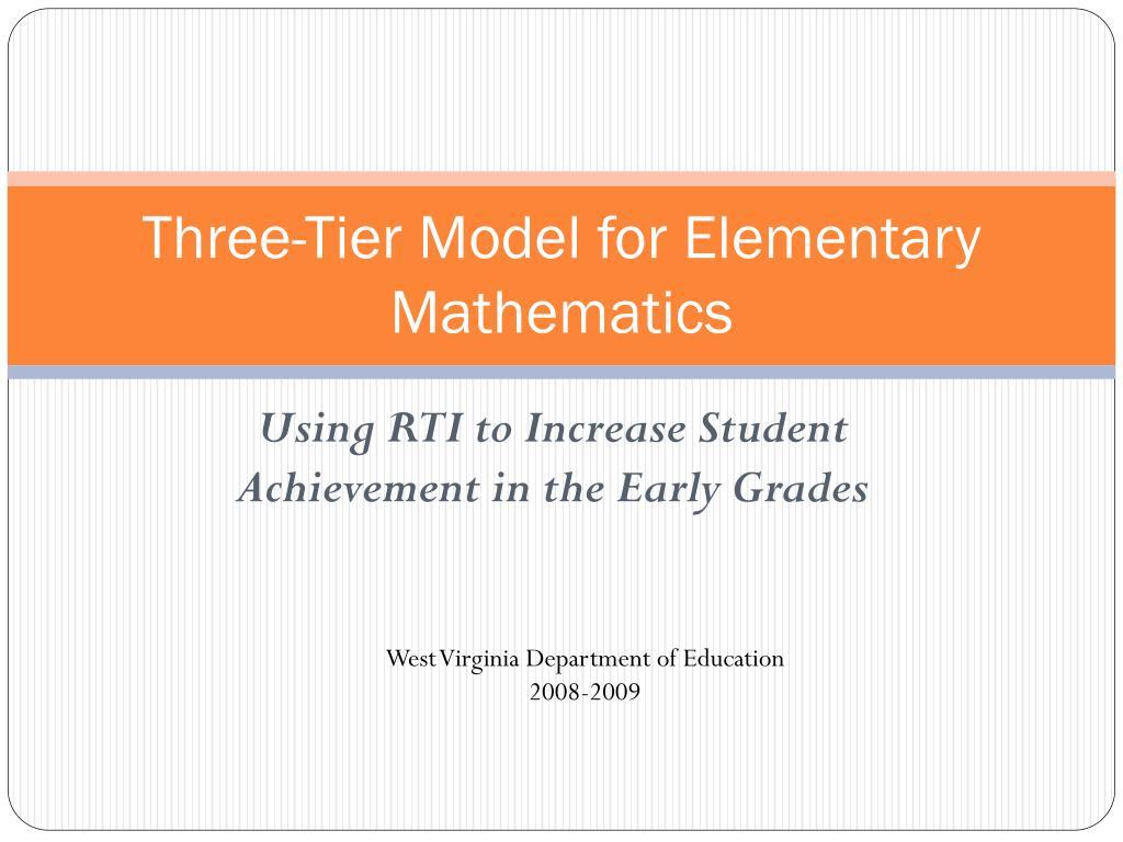three tier model for elementary mathematics