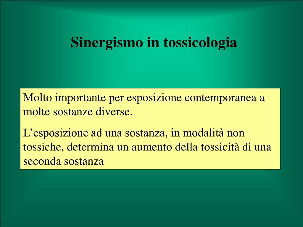 Sinergismo in tossicologia