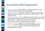 assessment abilit linguistiche