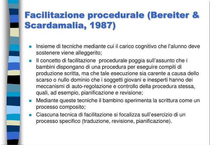 Facilitazione procedurale (Bereiter & Scardamalia, 1987)