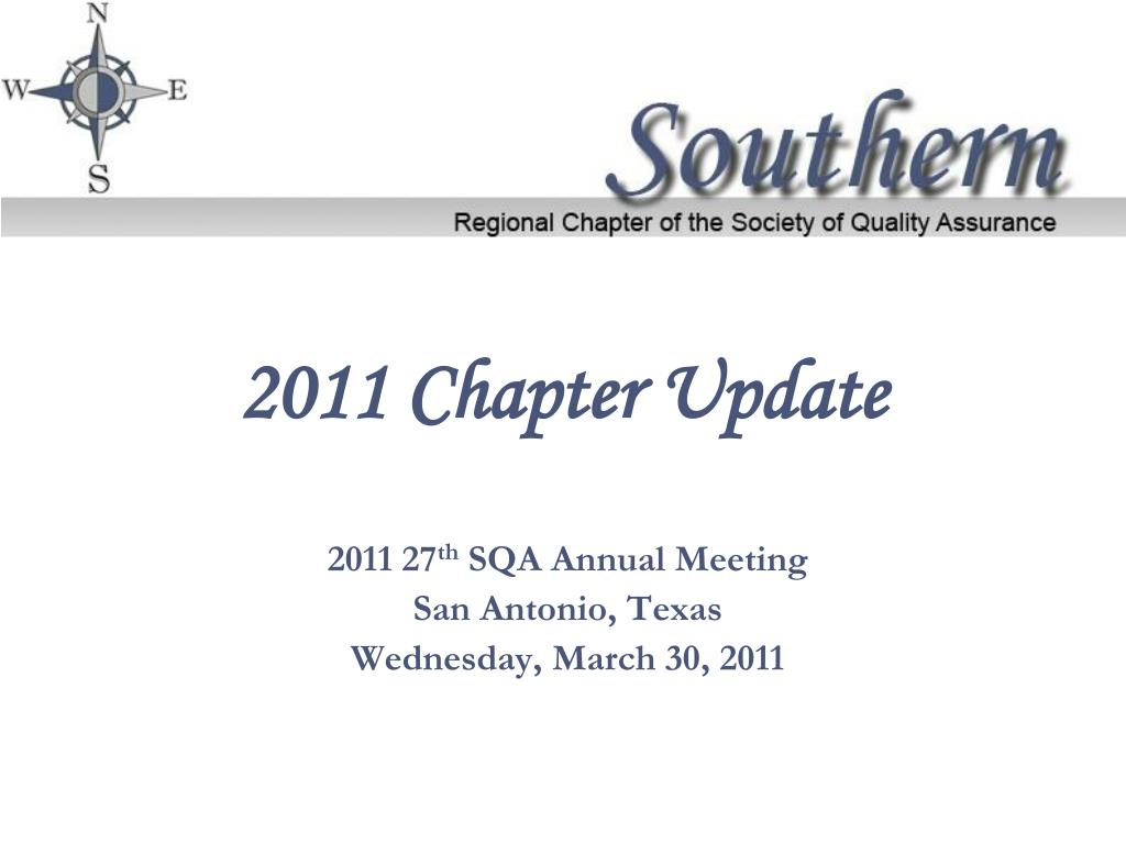 2011 chapter update