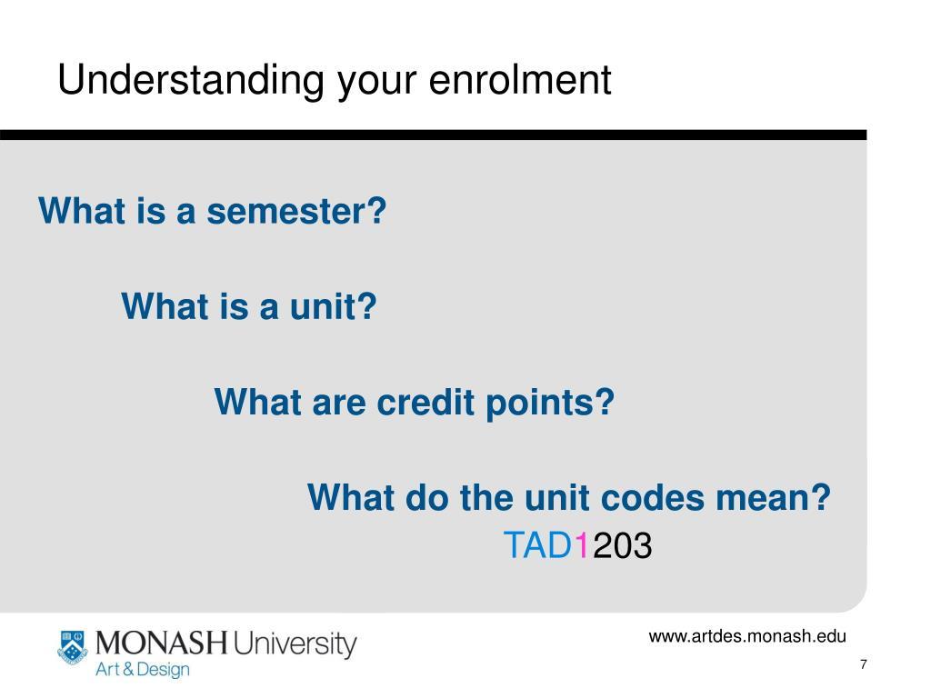 Understanding your enrolment