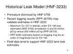 historical leak model hnf 3233