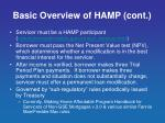 basic overview of hamp cont
