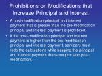 prohibitions on modifications that increase principal and interest