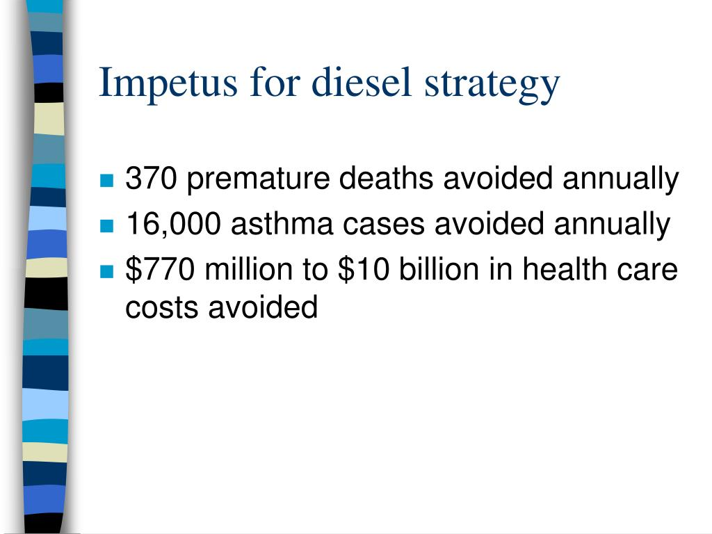 Impetus for diesel strategy