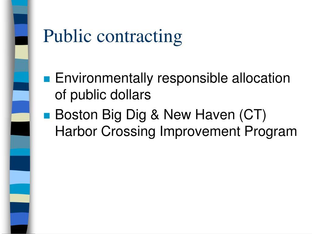 Public contracting