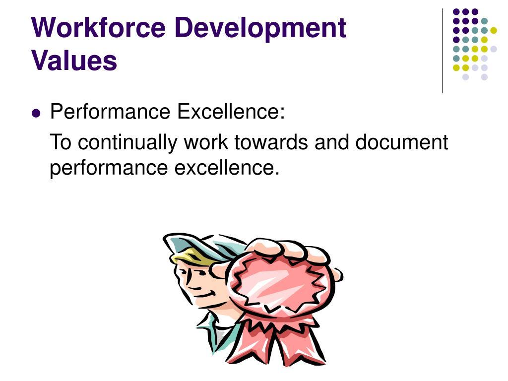 Workforce Development Values