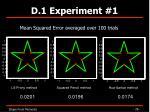 d 1 experiment 126