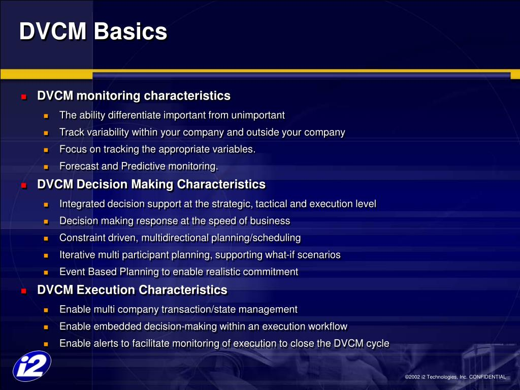 DVCM Basics