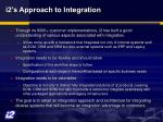 i2 s approach to integration