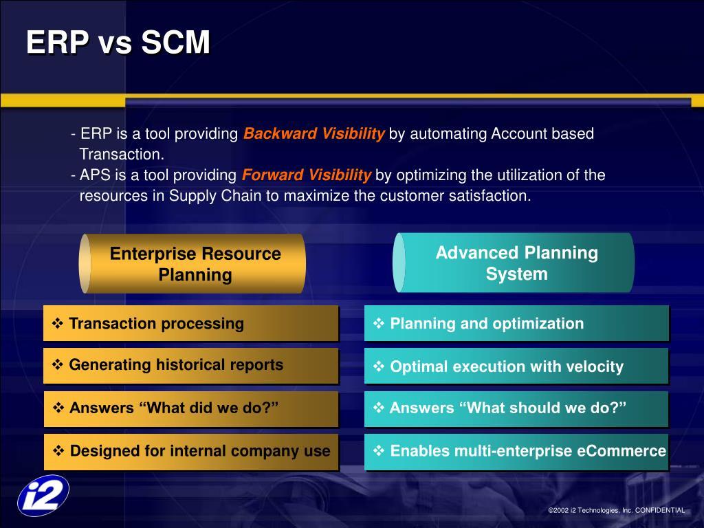 ERP vs SCM