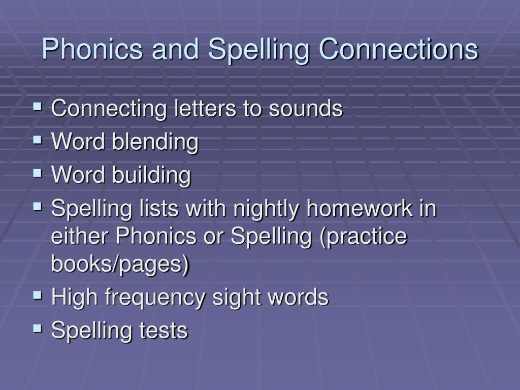 Phonics and Spelling Connections