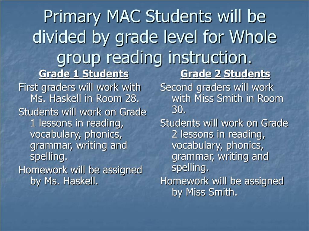 Grade 1 Students