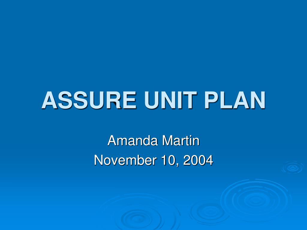 assure unit plan