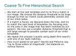 coarse to fine hierarchical search