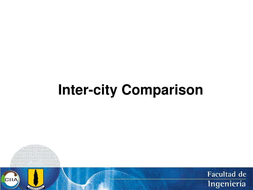 Inter-city Comparison