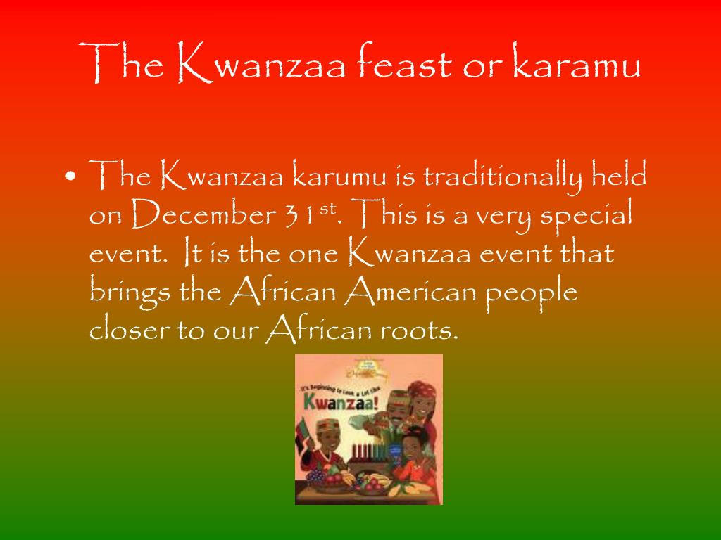 The Kwanzaa feast or karamu