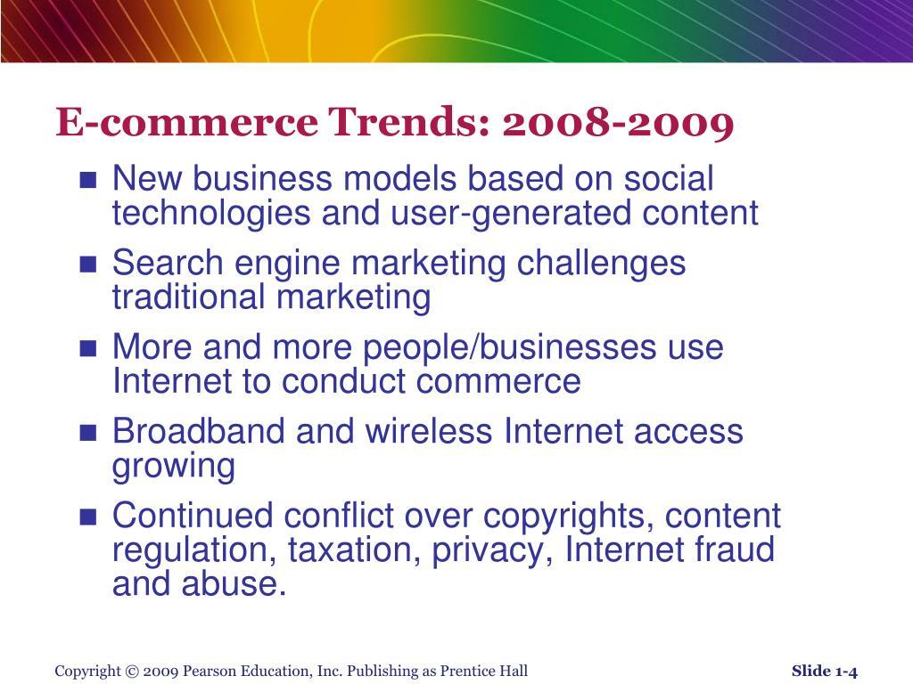 E-commerce Trends: 2008-2009
