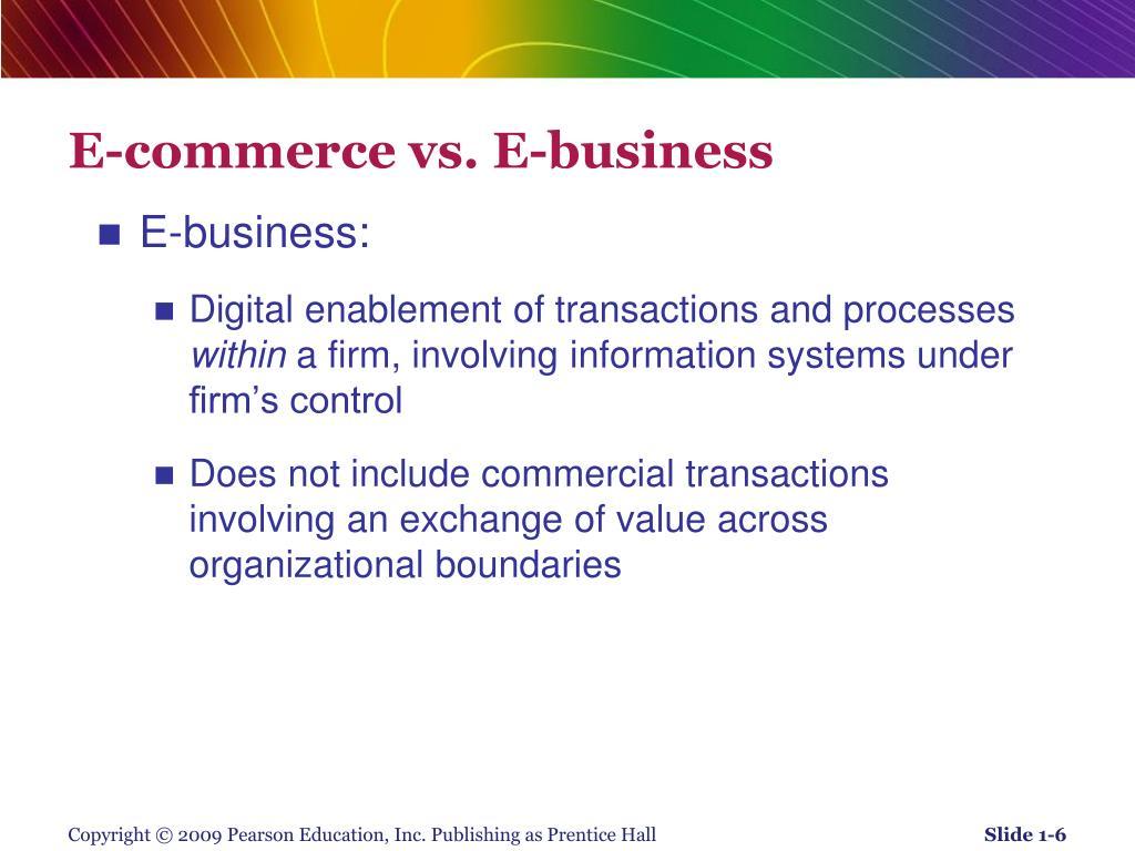E-commerce vs. E-business