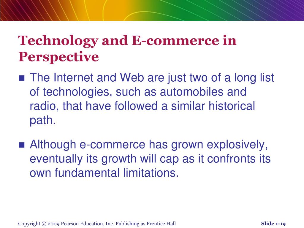 Technology and E-commerce in Perspective