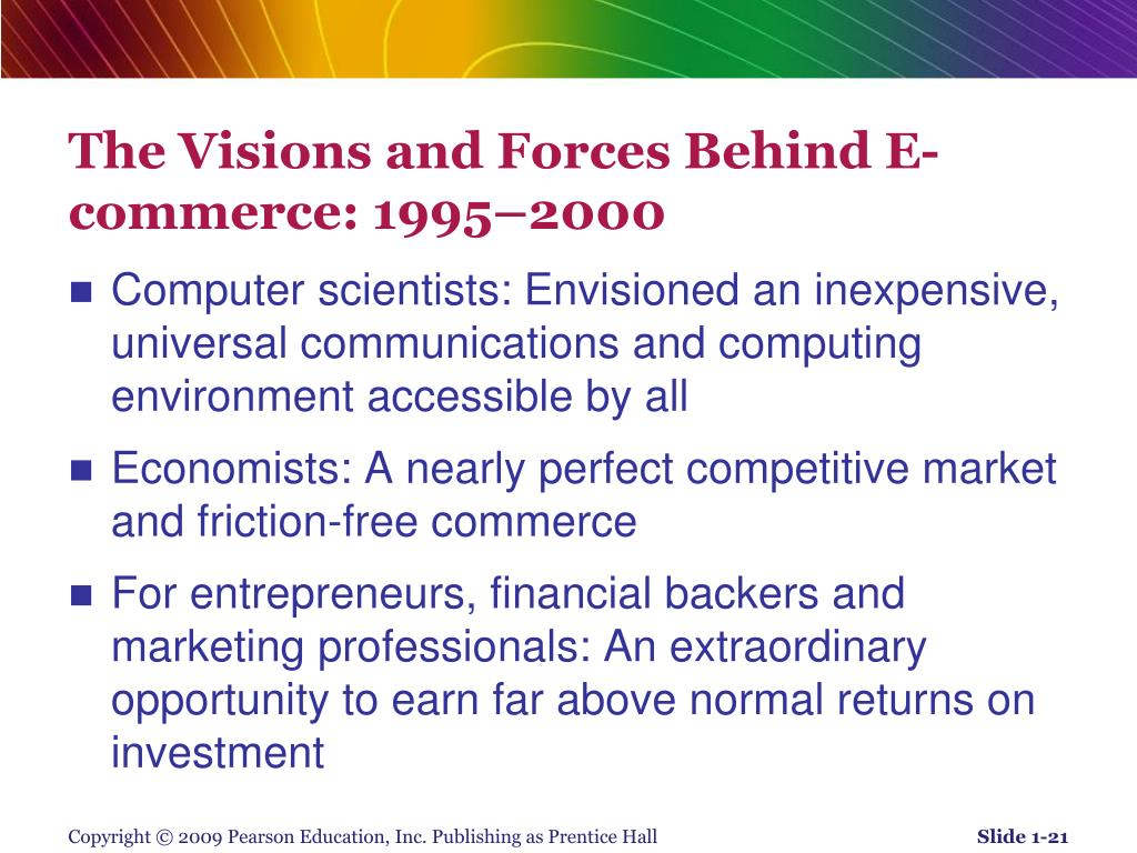 The Visions and Forces Behind E-commerce: 1995