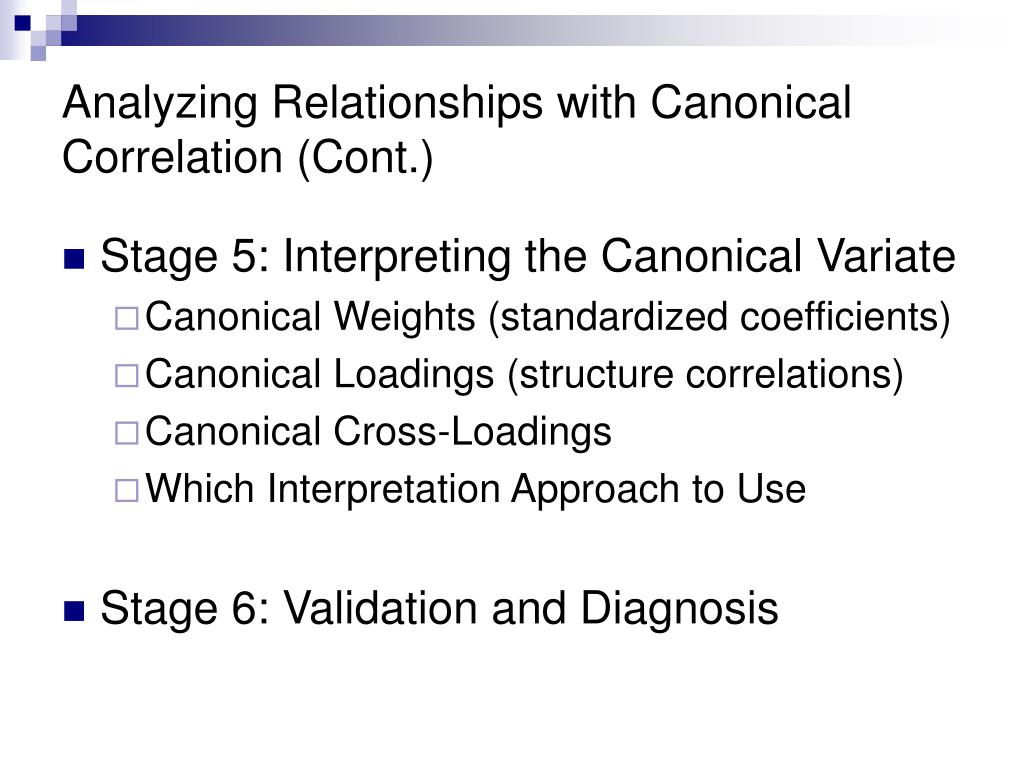 canonical correlation Canonical correlation & principal components analysis aaron french and sally chess canonical correlation canonical correlation is one of the most general of the multivariate techniques.