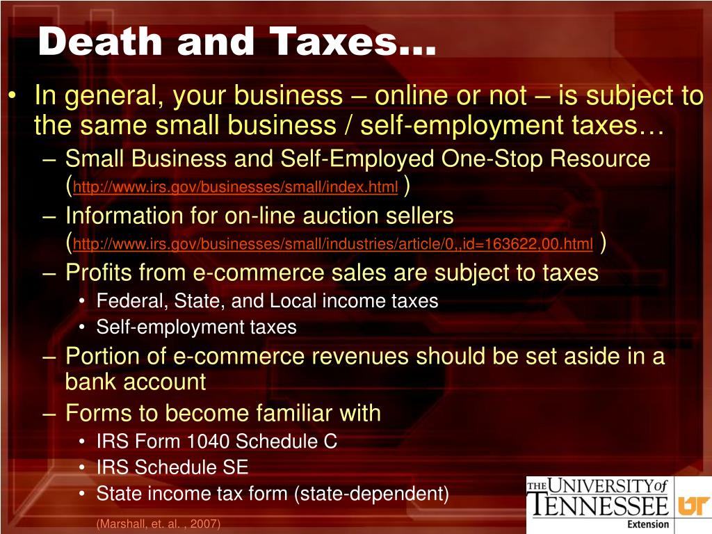 Death and Taxes…