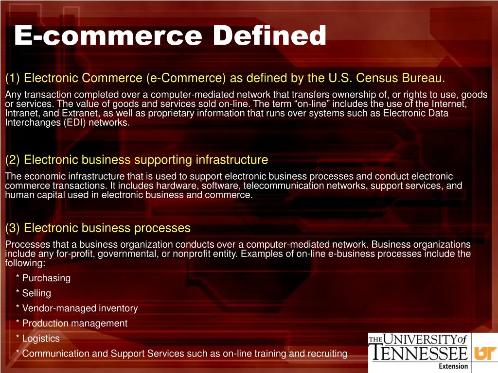 E-commerce Defined