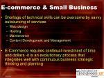 e commerce small business