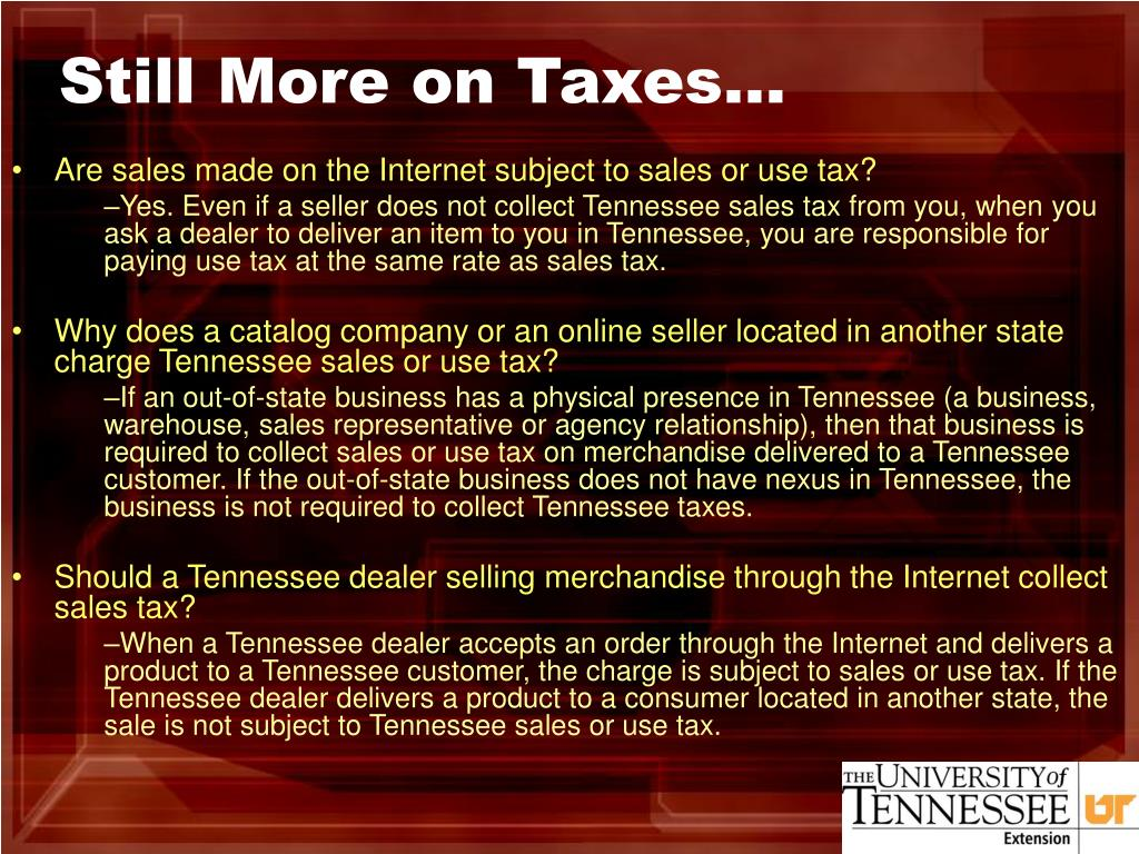 Still More on Taxes…