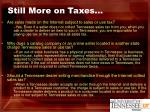 still more on taxes