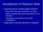 development of research skills