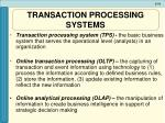 transaction processing systems10
