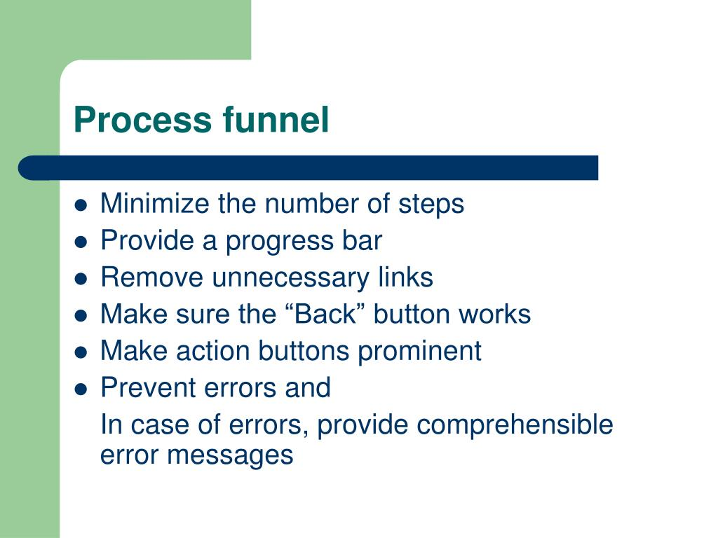 Process funnel