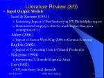 literature review 3 5
