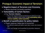 prologue economic impact of terrorism