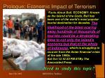prologue economic impact of terrorism4
